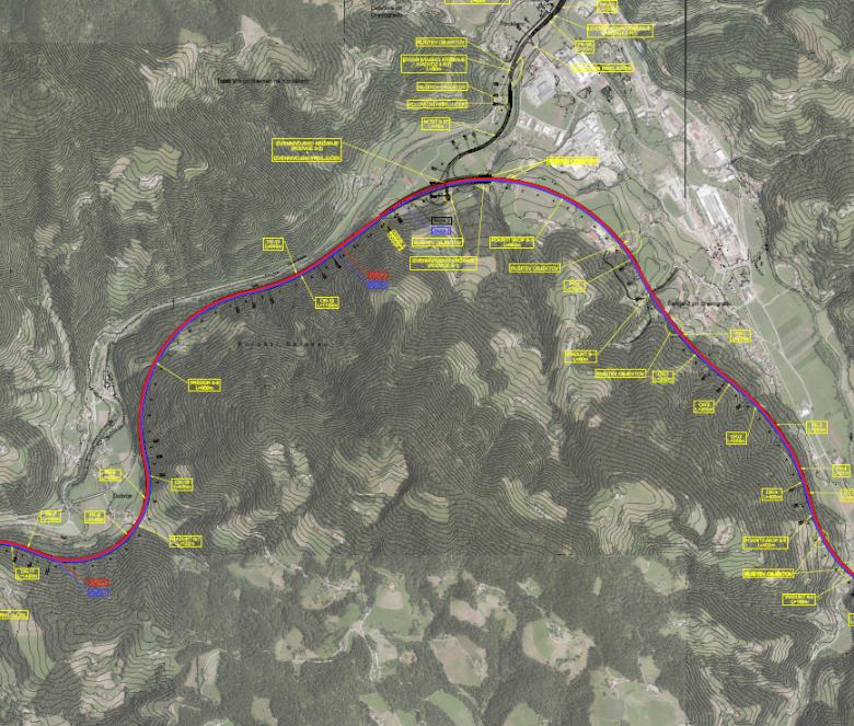 Production of a study of road connections modernisation on sections Slovenj Gradec-Dravograd and Otiški vrh-Holmec
