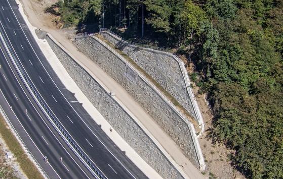 Projekte zur Stützkonstruktion auf der Autobahn Draženci – Podlehnik – Grenzübergang Gruškovje